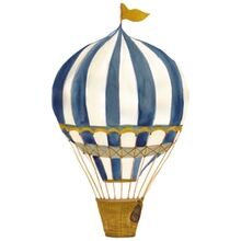 That's Mine Wall Stories Retro Air Balloon Large Blue
