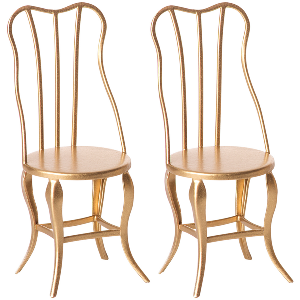 Maileg Vintage Chair Micro Gold 2 pack