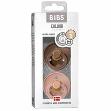 Bibs Color Latex Sutter 2-pack Round Dark Oat / Blush
