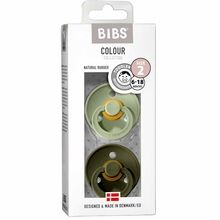 Bibs Color Latex Sutter 2-pack Round Sage / Hunter Green