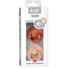 Bibs Color Latex Sutter 2-pack Round Woodchuck/Blush