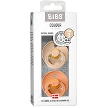 Bibs Color Latex Sutter 2-pack Round Vanilla / Peach
