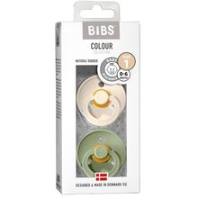 Bibs Color Latex Sutter 2-pack Round Ivory / Sage