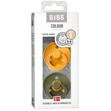 Bibs Color Latex Sutter 2-pack Round Honey Bee / Olive