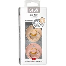 Bibs Color Latex Sutter 2-pack Round Vanilla / Blush