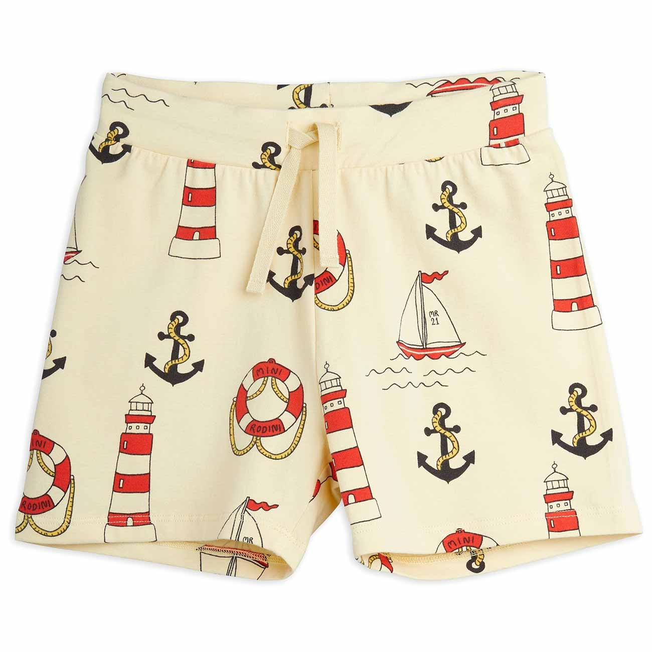 Mini Rodini Lighthouse AOP Yellow Shorts