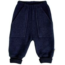Joha Wool Blue Baggy Byxor