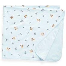 Ralph Lauren Baby Blanket Bear Blue Multi