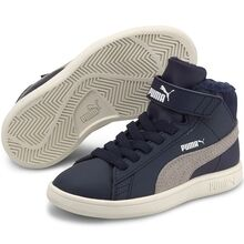 Puma Sneakers Smash v2 Mid Fur Peacoat / Grey Violet