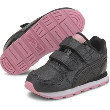 Puma Vista Glitz V Infant Black Pale Pink Sneakers
