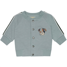 Soft Gallery Slate Doggy Emb. Baby Roland Cardigan