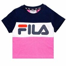 Fila Thea Bianco Super Pink Black Iris Bright White Tee