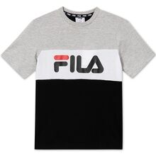 Fila Marina Black/Light Grey Melange/Bright White Tee