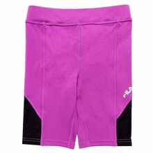 Fila Tara Purple Cactus Flower Black Short Leggings