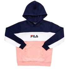 Fila Tracy Coral Blush Black Iris Bright White Hoodie