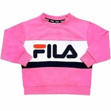 Fila Carl Super Pink Bright White Black Iris Crew Sweat