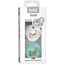 Bibs Color Latex Sutter 2-pack Round Mint/White