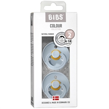 Bibs Color Latex Sutter 2-pack Round Baby Blå