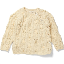 Konges Sløjd Matheo Wrap Cable Cardigan Offwhite