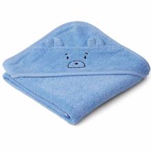 Liewood Albert Babyhandduk Mr Bear Sky Blue