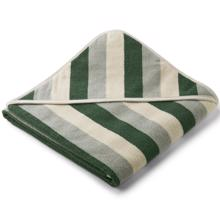 Liewood Loui Handduk Stripe Garden Green / Sandy / Dove Blue
