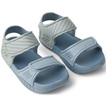 Liewood Blumer Sandal Stripe: Sea Blue / Sandy