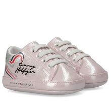 Tommy Hilfiger Lace-Up Sko Pink/Silver