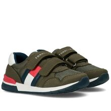 Tommy Hilfiger Low Cut Velcro Sneakers Military Green