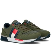 Tommy Hilfiger Low Cut Lace-Up Sneaker Military Green