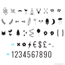 A Little Lovely Company Lightbox Numbers & Symbols Set