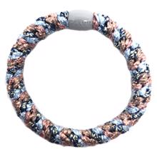 Bow's by Stær Braided Hairties Multi Light Blue/Rosa Metallic