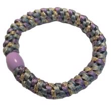 Bow's by Stær Braided Hairties Multi Purple Rainbow Glitter