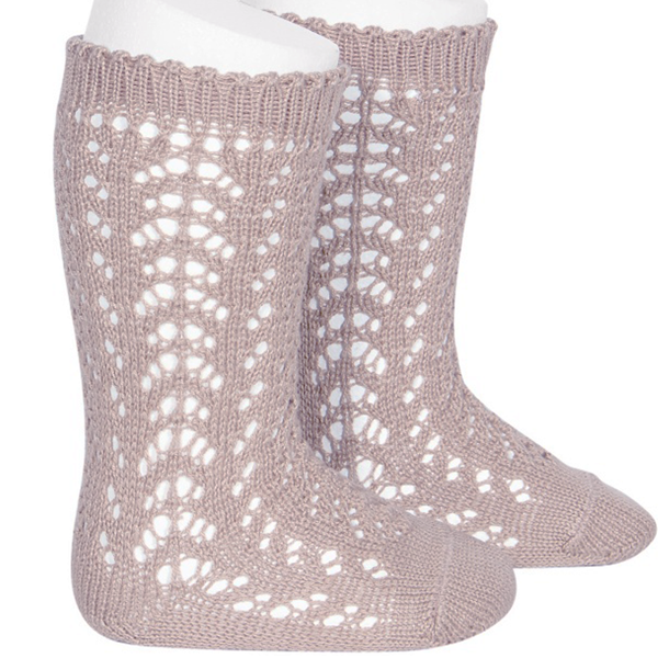 Cóndor Socks Openwork Old Rose