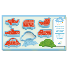 Djeco Light Clay Vehicles Cutters & Stamps