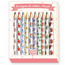 Djeco Lovely Paper 10 Mini Pencils