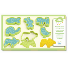 Djeco Light Clay Animal Cutters & Stamps