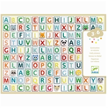 Djeco Stickers Puffy Alphabet