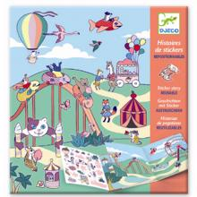 Djeco Stickers Reusable Funfair