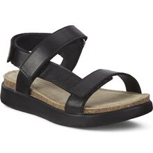 Ecco Flowt K Black Feather Kids Sandal