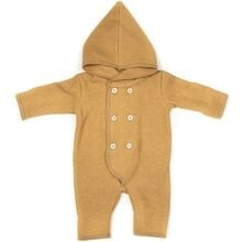 Huttelihut Elf Baby Overall Cotton Fleece Ocre