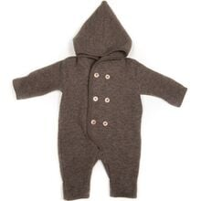 Huttelihut Elf Baby Overall Bomull Ull Fleece Marmo Brown