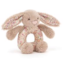 Jellycat Bashful Blossom Beige Bunny Rattle