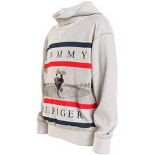 Tommy Hilfiger Colorblock Photoprint Hoodie Light Grey Heather