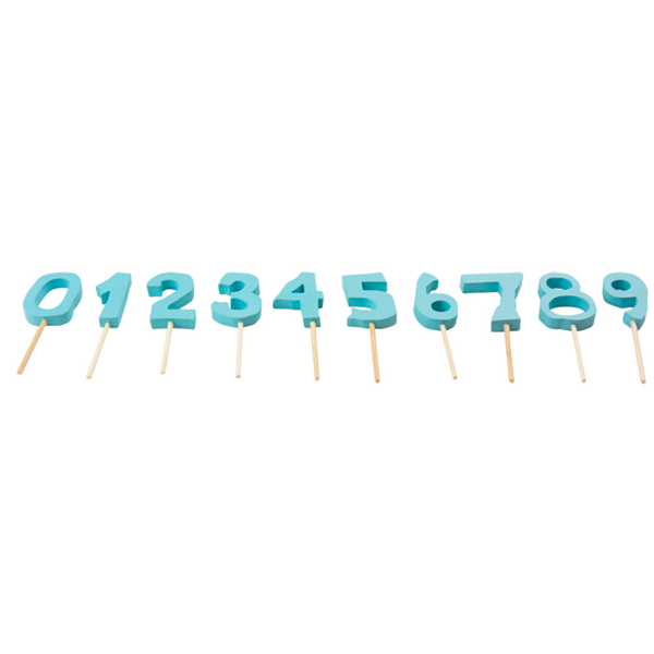 Kids by Friis Birthday Cake Numbers Blue