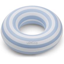 Liewood Baloo Swim Ring Stripe Sea Blue/Creme