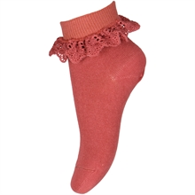 MP 527 Cotton Lace Socks 4270 Marsala