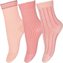 MP 77209 Abby 3-Pak Socks 4272 Guava