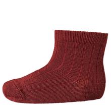 MP 718 Wool Socks Rib 1005 Bordeaux