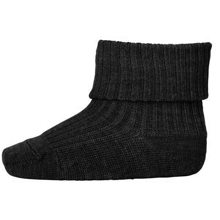 MP 589 Wool Socks Rib 497 Dark Grey