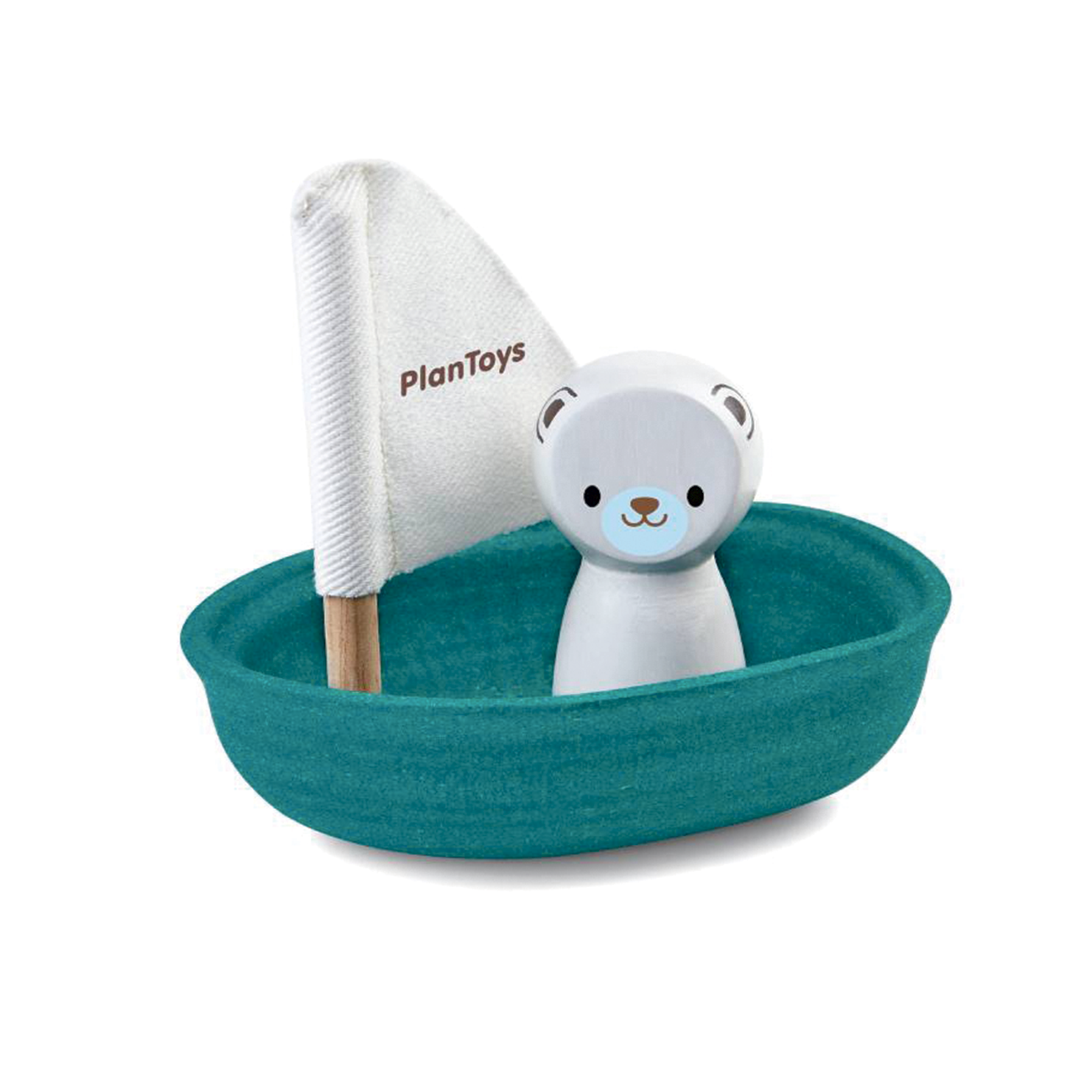 PlanToys Boat with a Polarbear